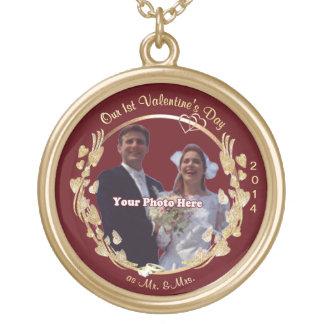 氏及び夫人としてNecklace美しい第1バレンタインデー ゴールドプレートネックレス