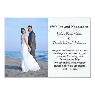 氏及び夫人Gray - 3x5写真の結婚の発表 8.9 X 12.7 インビテーションカード