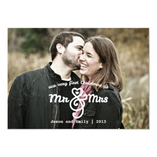 氏及び夫人Holiday Photo Cardとして初めてのクリスマス カード
