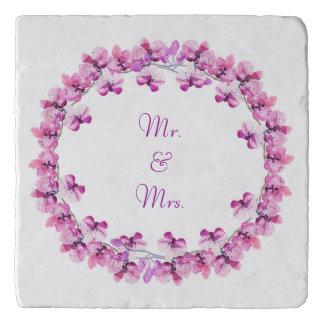 氏及び夫人Violet水色の蘭Trivet トリベット