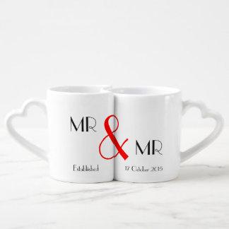 氏及びGay氏の結婚祝い ペアカップ