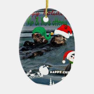 氏及びOtterlyクロース夫人のクリスマスのプレゼント セラミックオーナメント