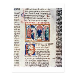 氏150 f.61v 「Decrets de St.からの判断、 はがき