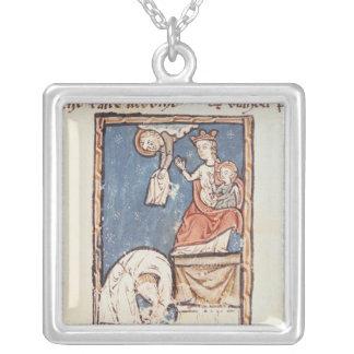 氏3516 f.127 Notre Dameの曲芸師 シルバープレートネックレス