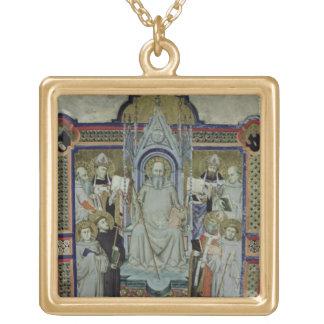 氏501 St.ベネディクト(子牛皮紙) ゴールドプレートネックレス
