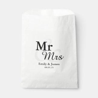 氏&Mrsのシンプルでエレガントなタイポグラフィの結婚 フェイバーバッグ