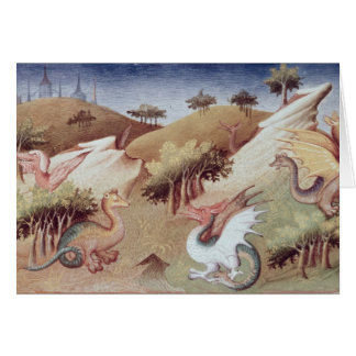 氏Fr 2810 f.55vのドラゴンおよび他の獣 カード