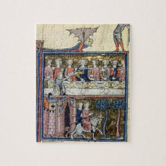氏Fr 95 f.326王アーサーおよび彼の騎士 ジグソーパズル