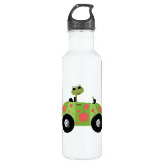 氏Froggyおよび彼の斑点を付けられた車 ウォーターボトル