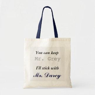 氏Grey Iを付きます氏とDarcy保って下さい トートバッグ
