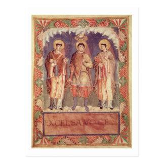 氏Lat 1141 fol.2vチャールズII (8の即位 ポストカード