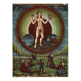 氏Lat。 「De Sphaera」からの209 f.9v金星、c.1470 葉書き