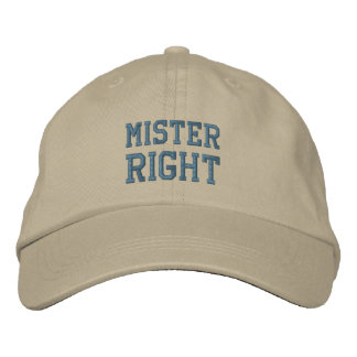 氏RIGHTの帽子 刺繍入りキャップ