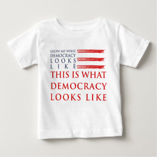 民主主義のベビーのジャージーのTシャツ ベビーTシャツ