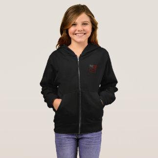 民主主義の女の子のジッパーのフード付きスウェットシャツ パーカ
