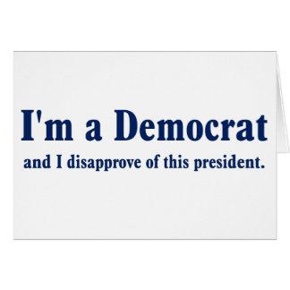民主党の大統領のな承認の落下 グリーティングカード