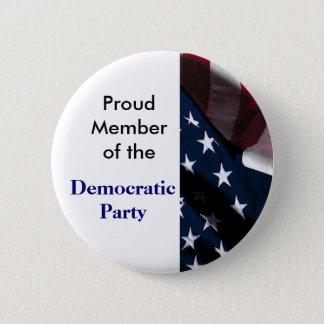 民主党ボタン 5.7CM 丸型バッジ