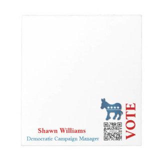 民主党メモ帳のテンプレートのろば ノートパッド