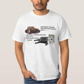 民主党員および共和党の子犬 Tシャツ