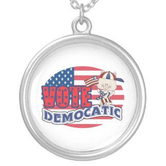 民主党員のおもしろいな大統領選挙 シルバープレートネックレス