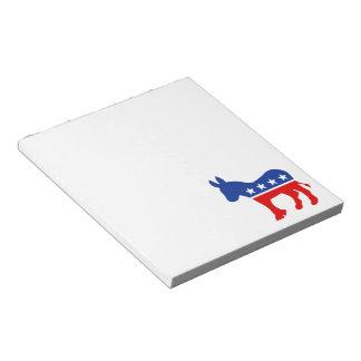 民主党員のろばのメモ帳 ノートパッド