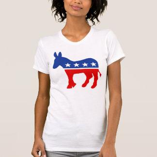 民主党員のろばのワイシャツ Tシャツ