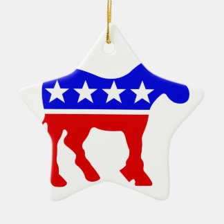 民主党員のろばの政治記号 セラミックオーナメント