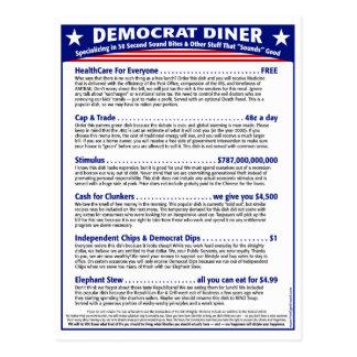 民主党員のダイナー ポストカード