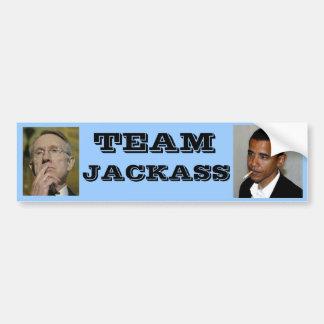 民主党員のチームろば バンパーステッカー