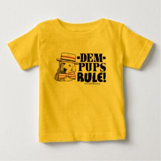 民主党員の子犬の規則のワイシャツ ベビーTシャツ