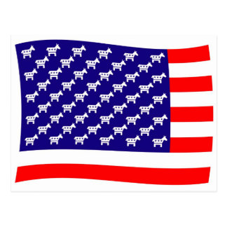 民主党員の星条旗の旗 ポストカード