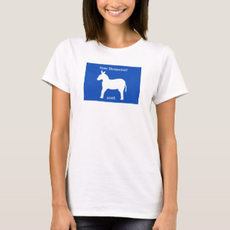 民主党員の2016年のろばの記号の青く白いカスタム Tシャツ