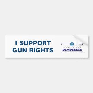 民主党員サポート銃はバンパーステッカーを訂正します バンパーステッカー