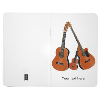 民俗ギターの音響の低音およびウクレレ ポケットジャーナル