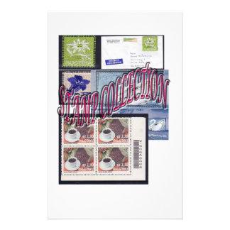 民族およびエレガントな切手のコレクション 便箋