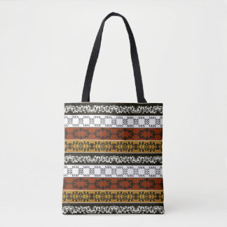 民族のアフリカのストライプのな種族パターン トートバッグ