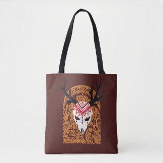 民族のシカの頭部 トートバッグ