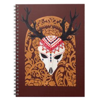 民族のシカの頭部 ノートブック