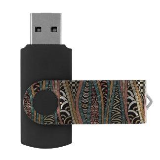 民族のスタイルの抽象的なパターン USBフラッシュドライブ