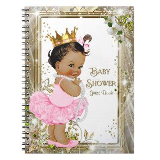民族のバレリーナのプリンセスのベビーシャワーの来客名簿 ノートブック