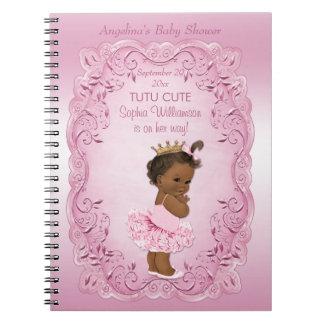 民族のプリンセスのチュチュのかわいいベビーシャワーの来客名簿 ノートブック