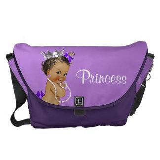 民族のプリンセスの真珠のラベンダーの赤ん坊のおむつのバッグ メッセンジャーバッグ
