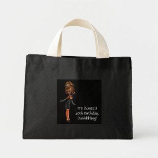 民族のプリンセスの花型女性歌手の黒のトートバック ミニトートバッグ