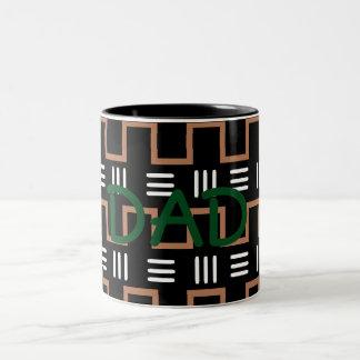 民族のプリントのパパのマグ ツートーンマグカップ