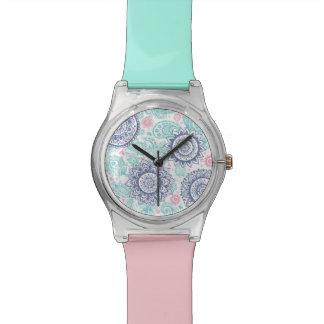 民族のペイズリーパターン 腕時計