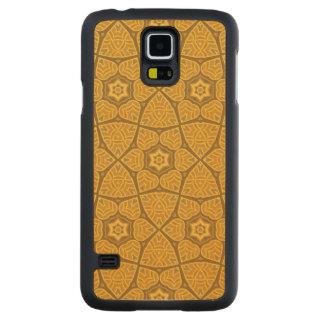 民族のモダンで幾何学的なパターン CarvedメープルGalaxy S5スリムケース