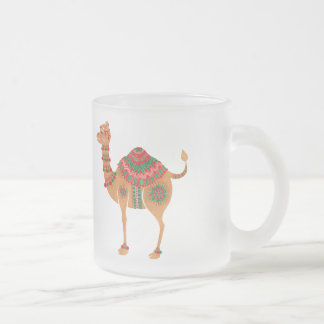 民族のラクダ フロストグラスマグカップ
