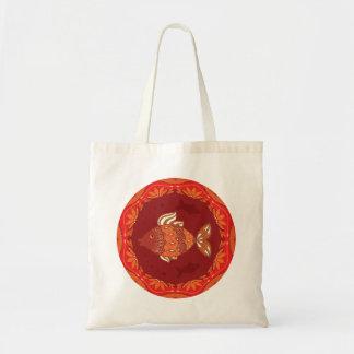 民族の伝統的な華麗さの装飾用の魚 トートバッグ