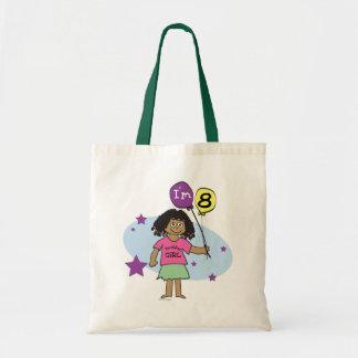 民族の女の子私は8第8誕生日です トートバッグ