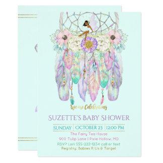 民族の妖精の夢のキャッチャーBoho色の紙 カード